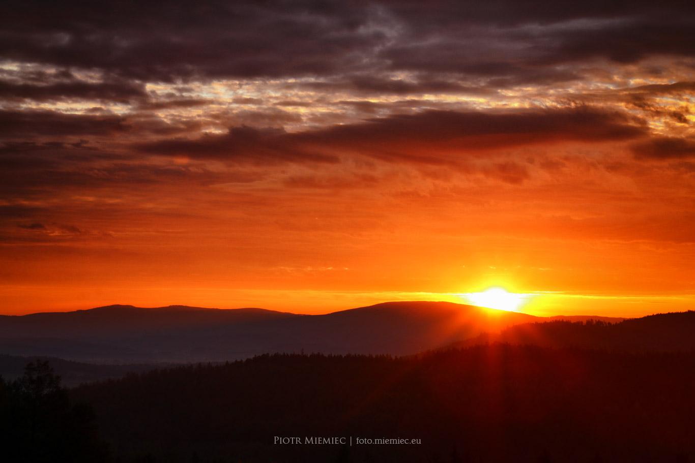 Karkonosze – wschód słońca