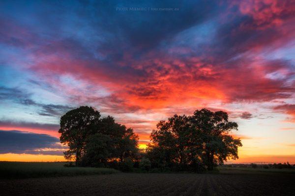 Zachód słońca w Chudowie