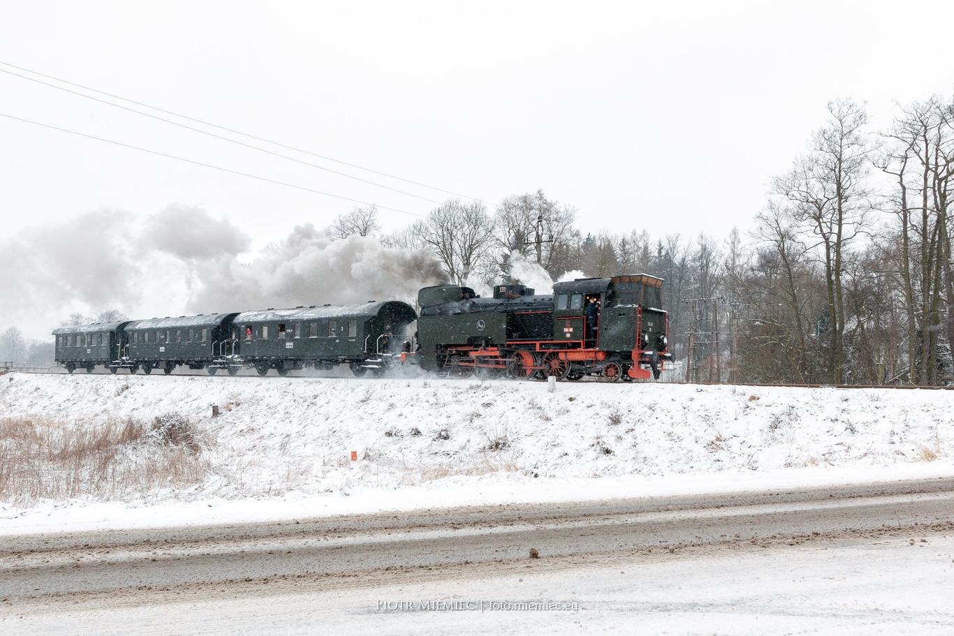 Zabytkowy pociąg Parowóz TKt48-18