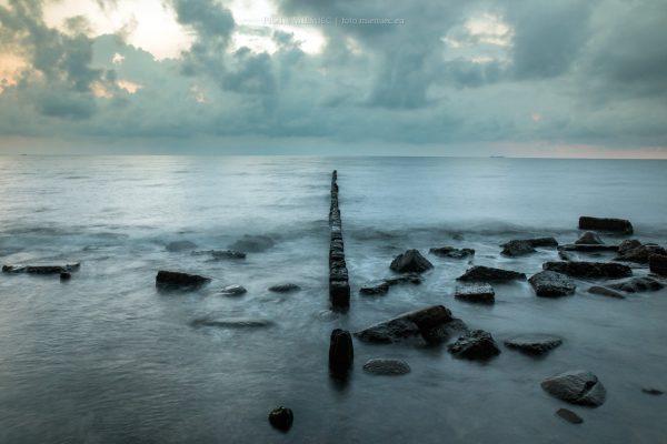 Pochmurny świt nad Zatoką Gdańską