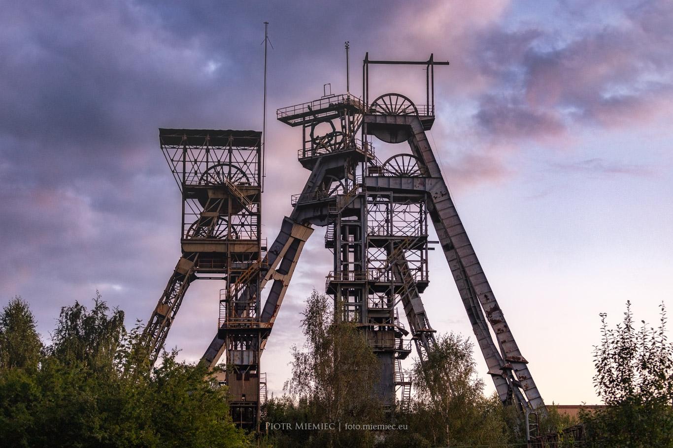 Wieże szybowe w Wałbrzychu