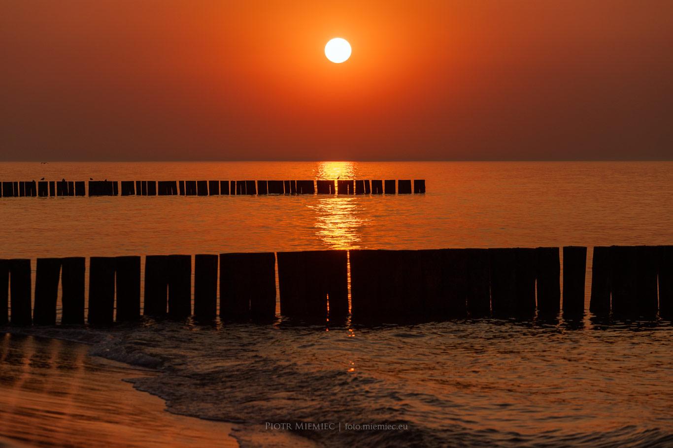 Zachód słońca w Trzęsaczu