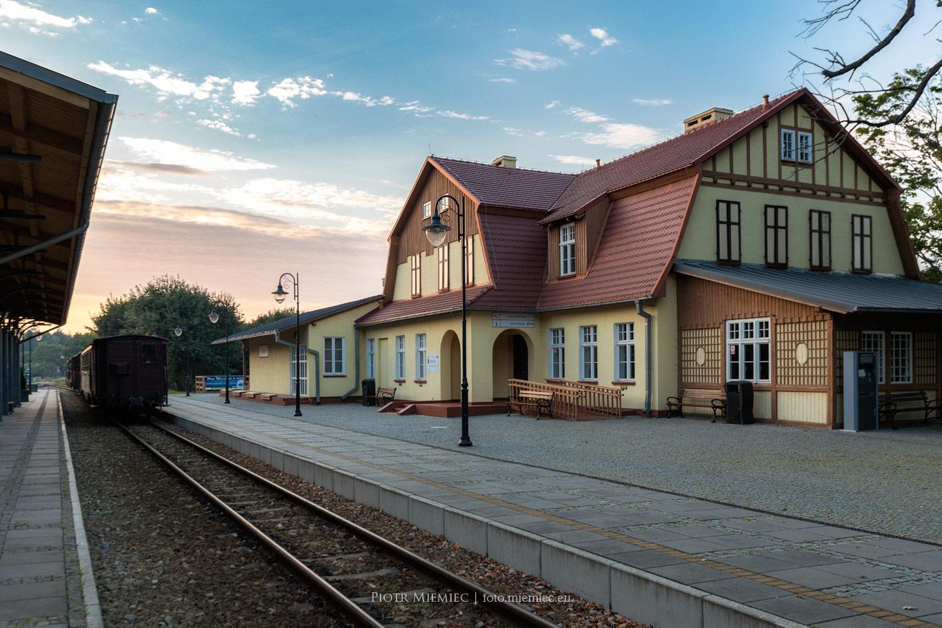 Stacja kolei wąskotorowej w Rewalu