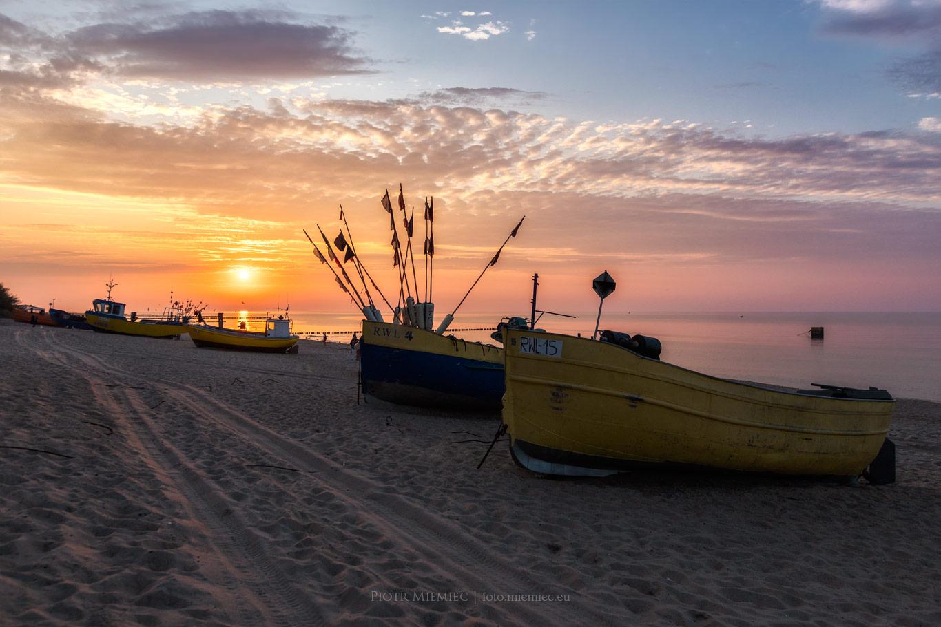 Kutry na plaży w Rewalu